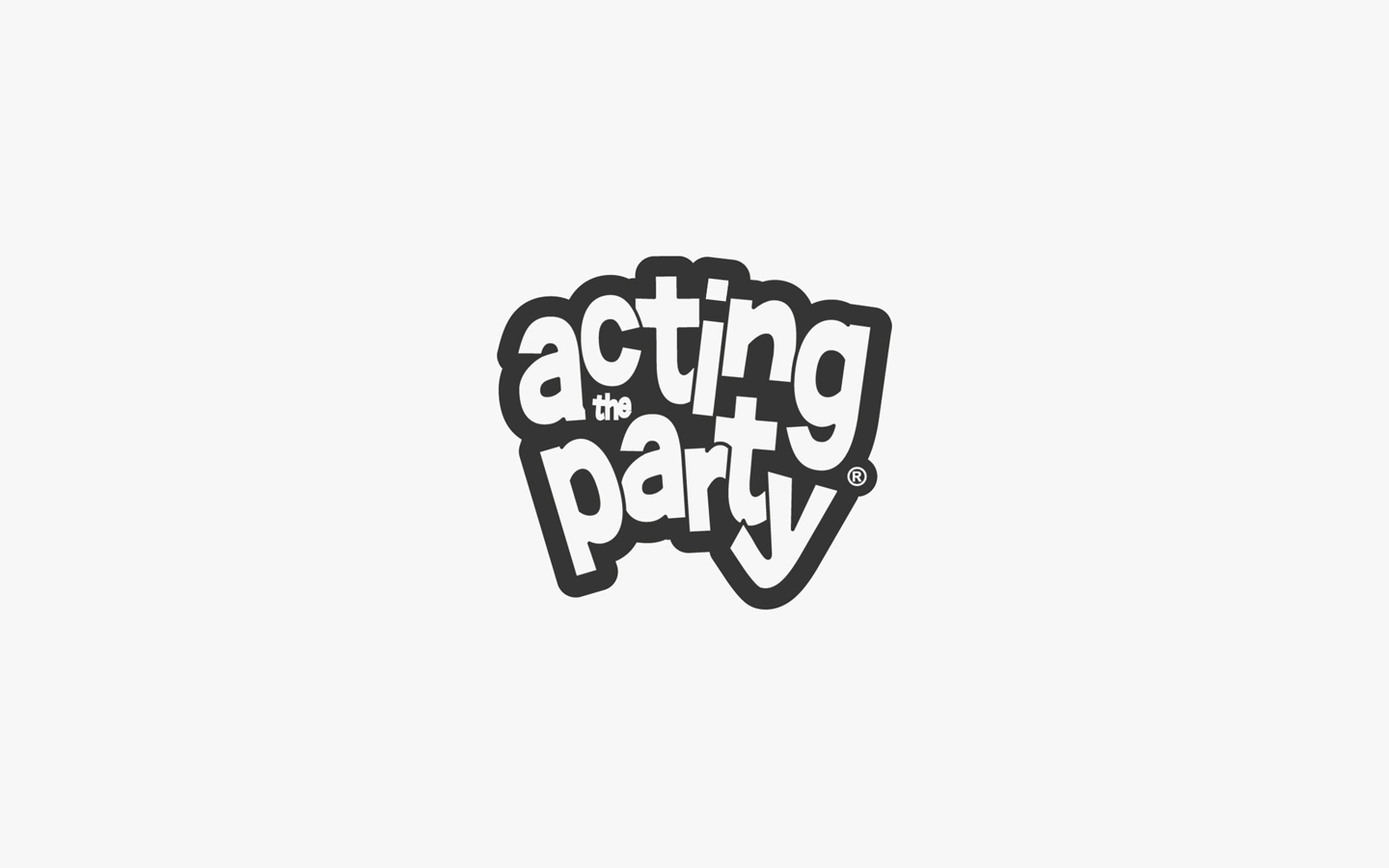 Acting the Party Logo Design in Mono