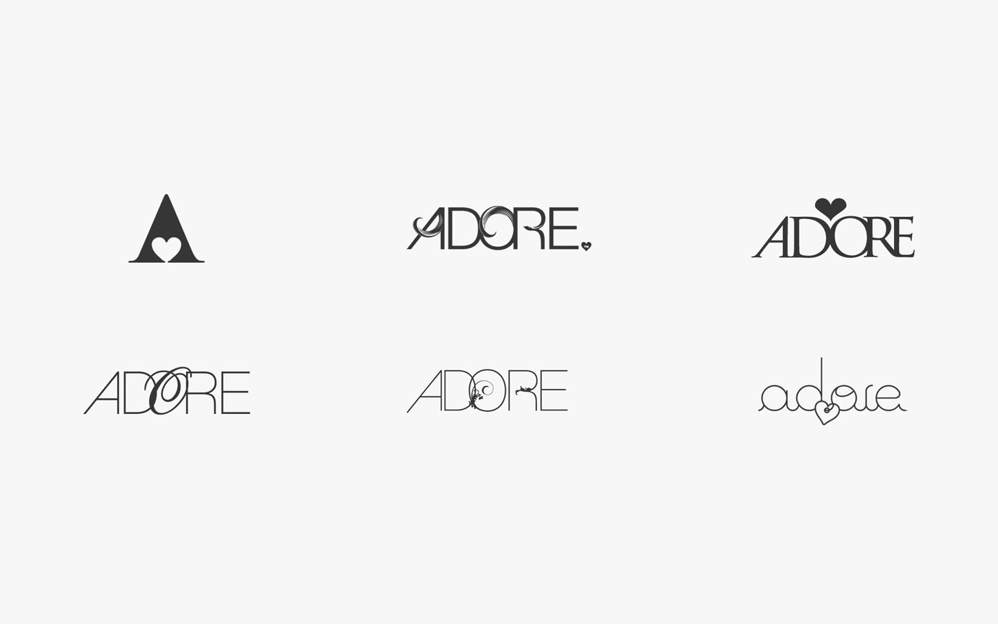 Adore Boutique Cleethorpes, Logo Design in Development