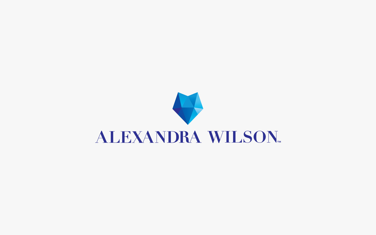 Alex Wilson Logo Design, in Brand Colours
