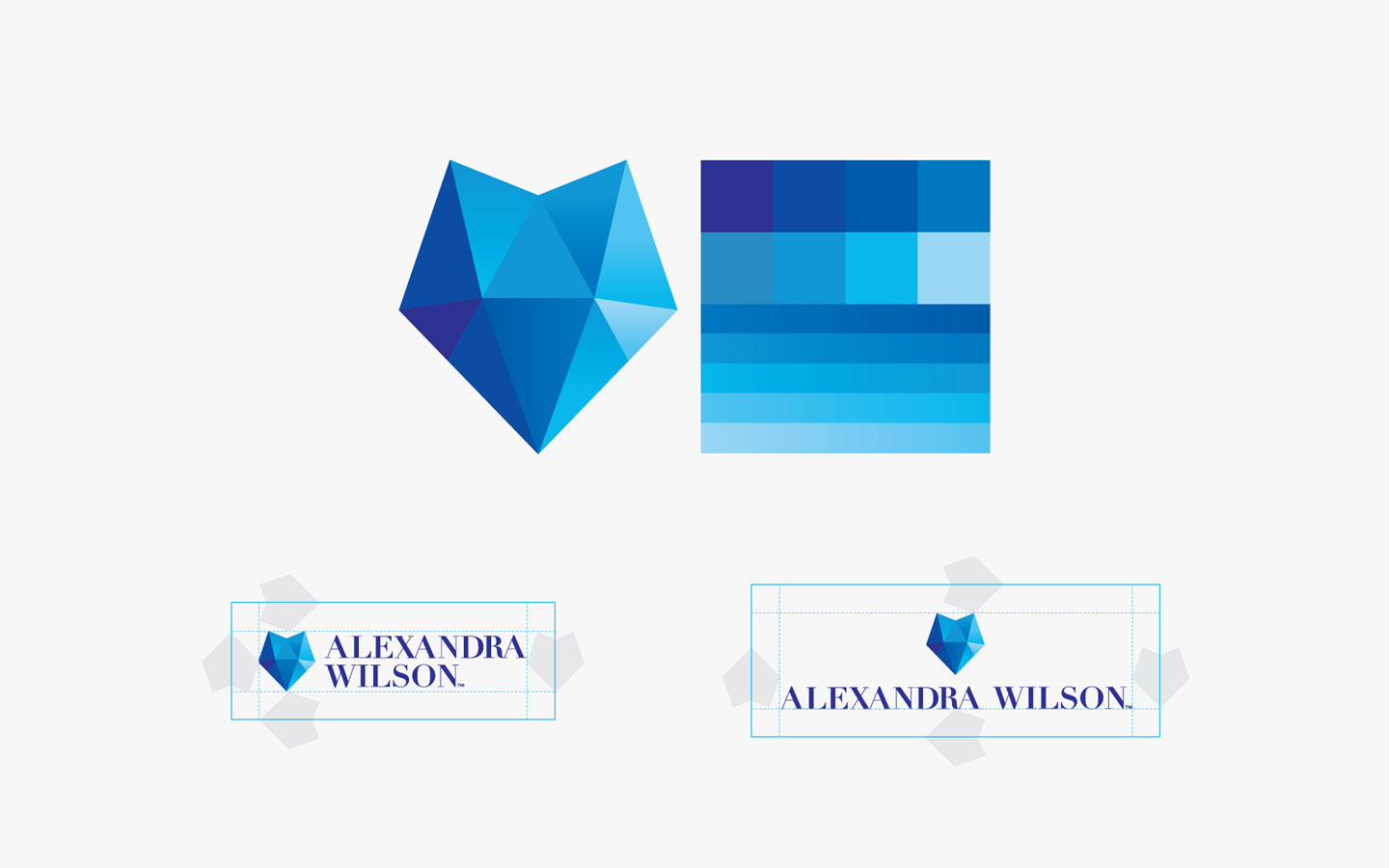 Alex Wilson Logo Design, in Brand Guidelines