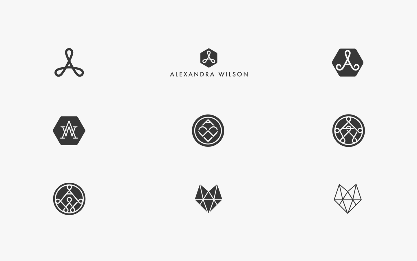 Alex Wilson Logo Design, in Development