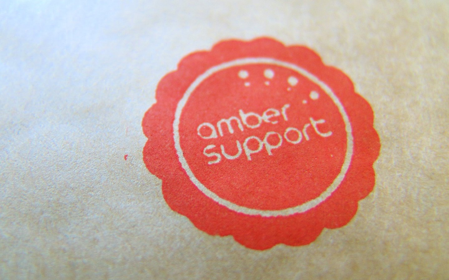 Amber Support Services Bromsgrove, Logo Design Stamp