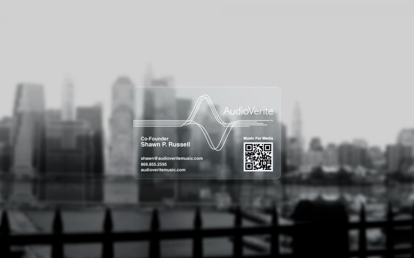 Logo design for Audio Verite Business Card