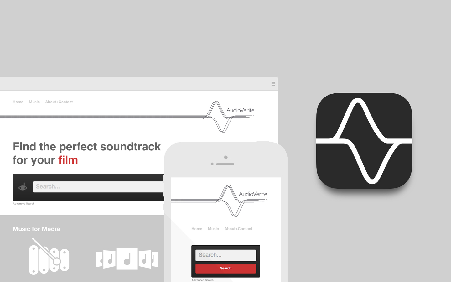 Logo design for Audio Verite Social Media and Website