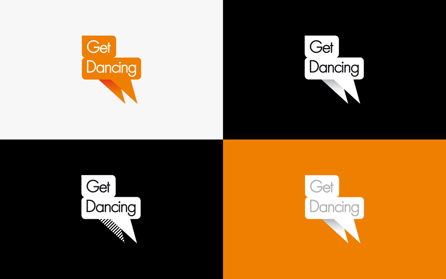 Get Dancing, Logo Design in Brand Colours