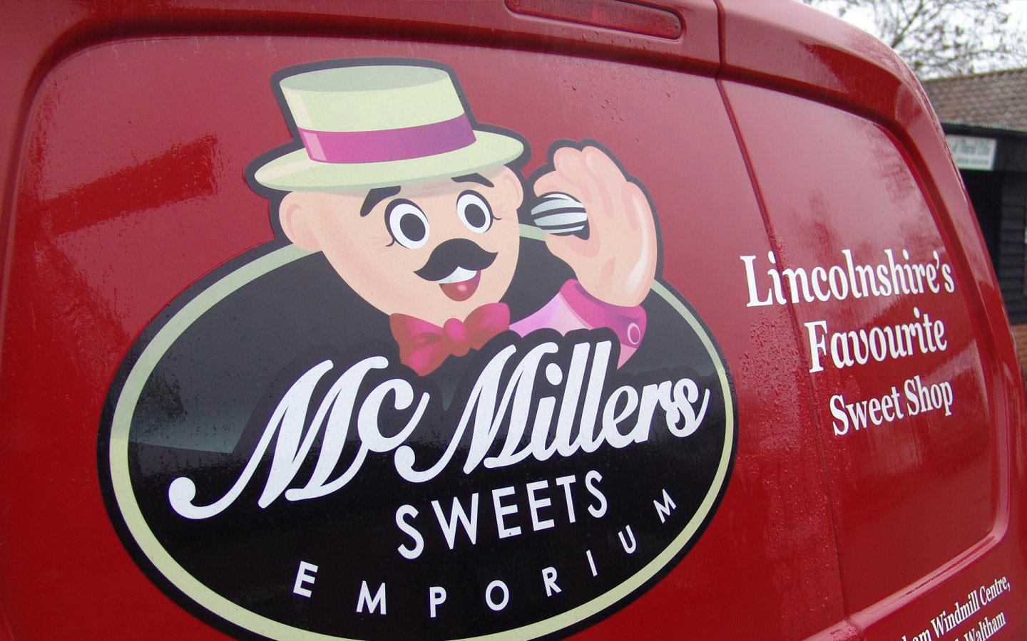 McMillers Sweets Emporium Logo Design Van Livery