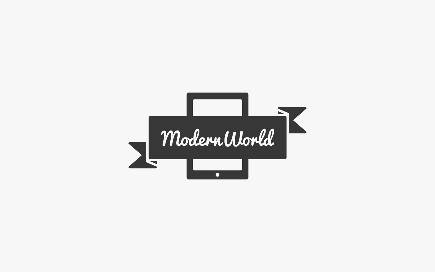 Modern World Illustrations, Logo Design in Mono