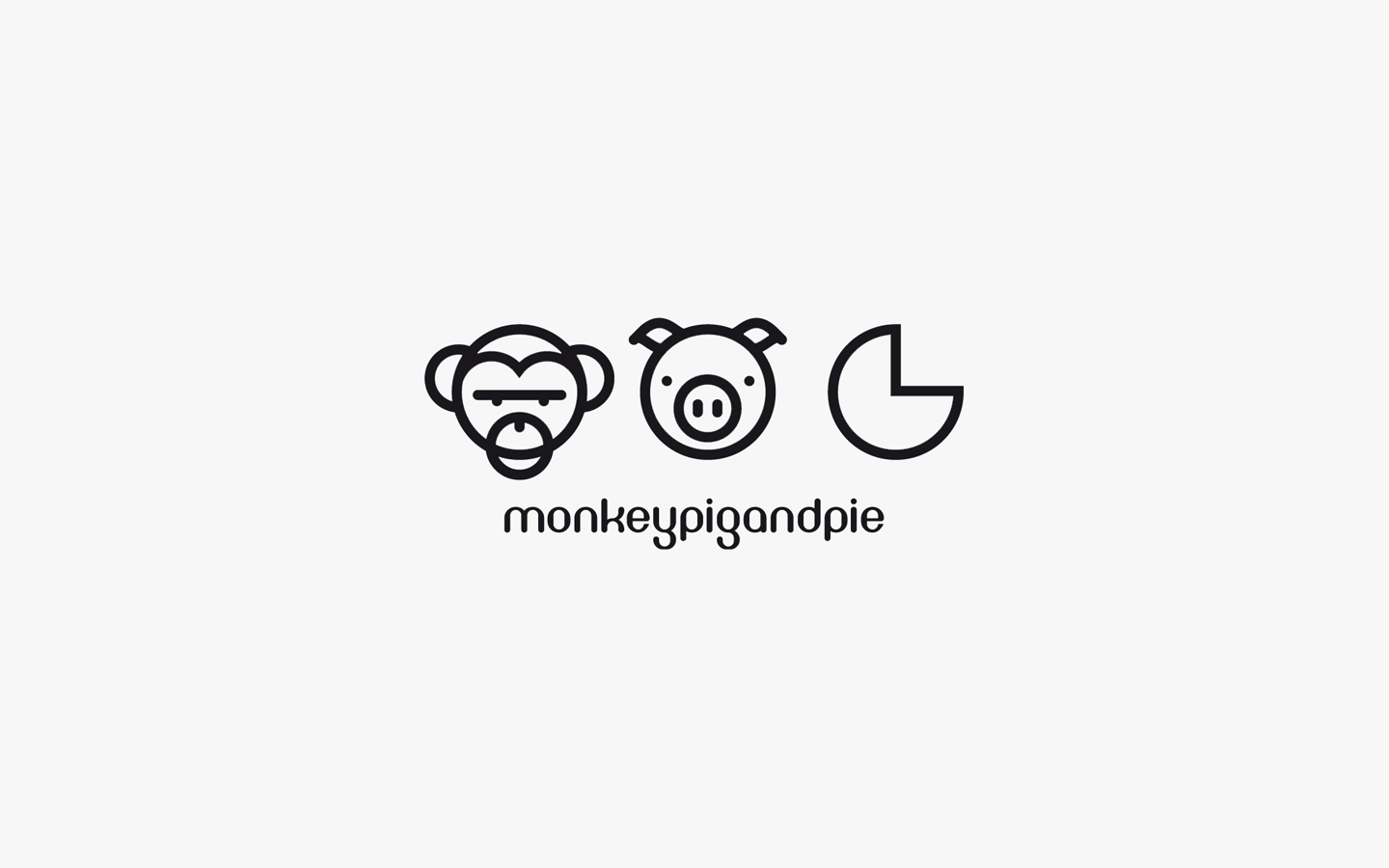 Monkey Pig and Pie, Logo Design Mono