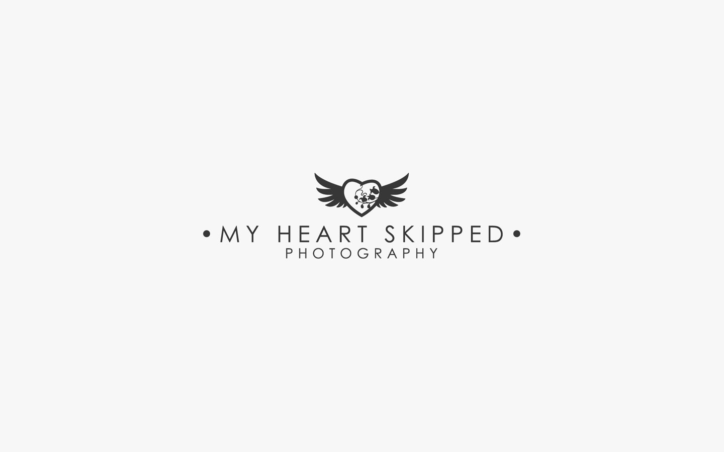 My Heart Skipped Logo Design in Mono
