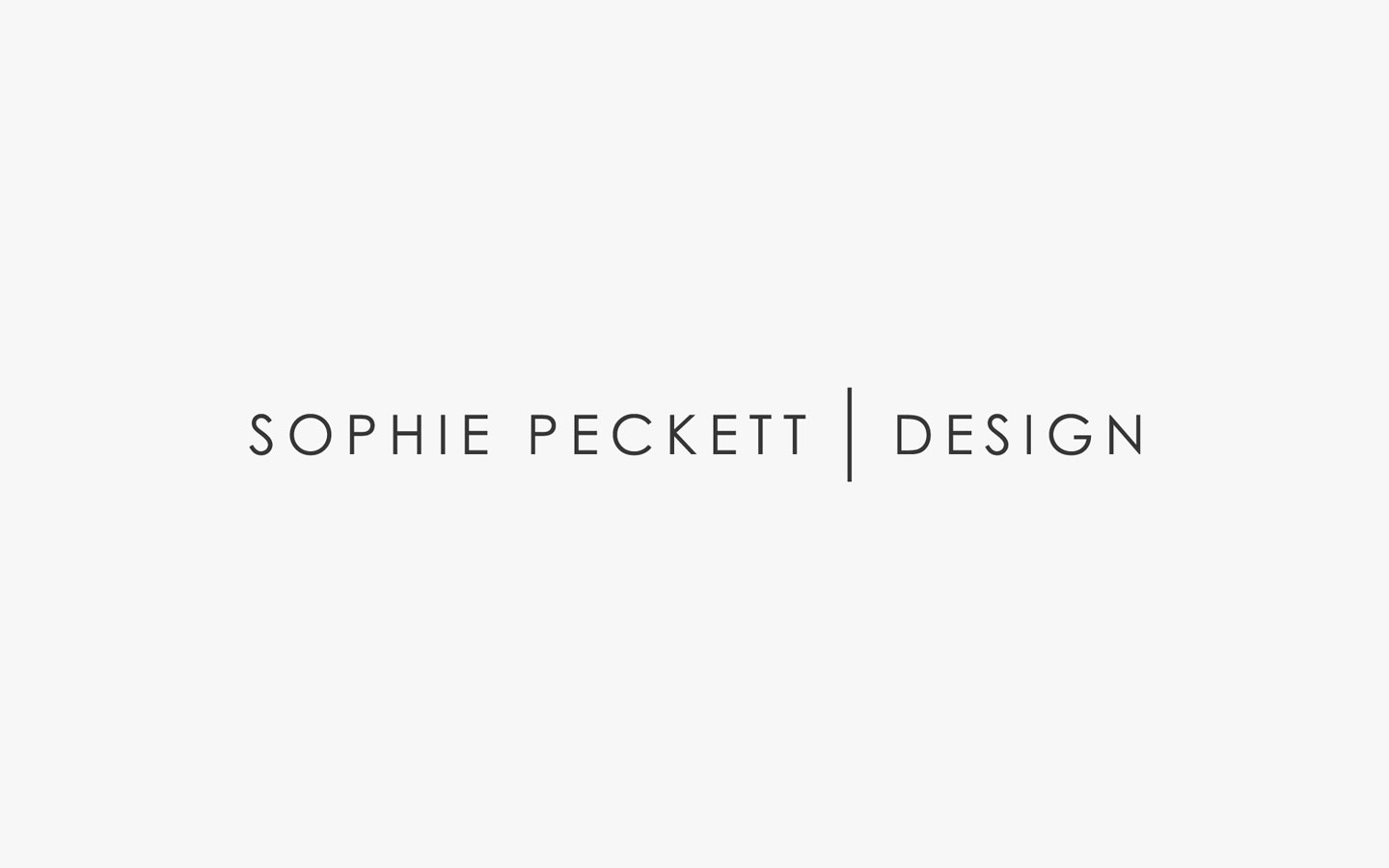 Sophie Peckett Logo Design in Mono
