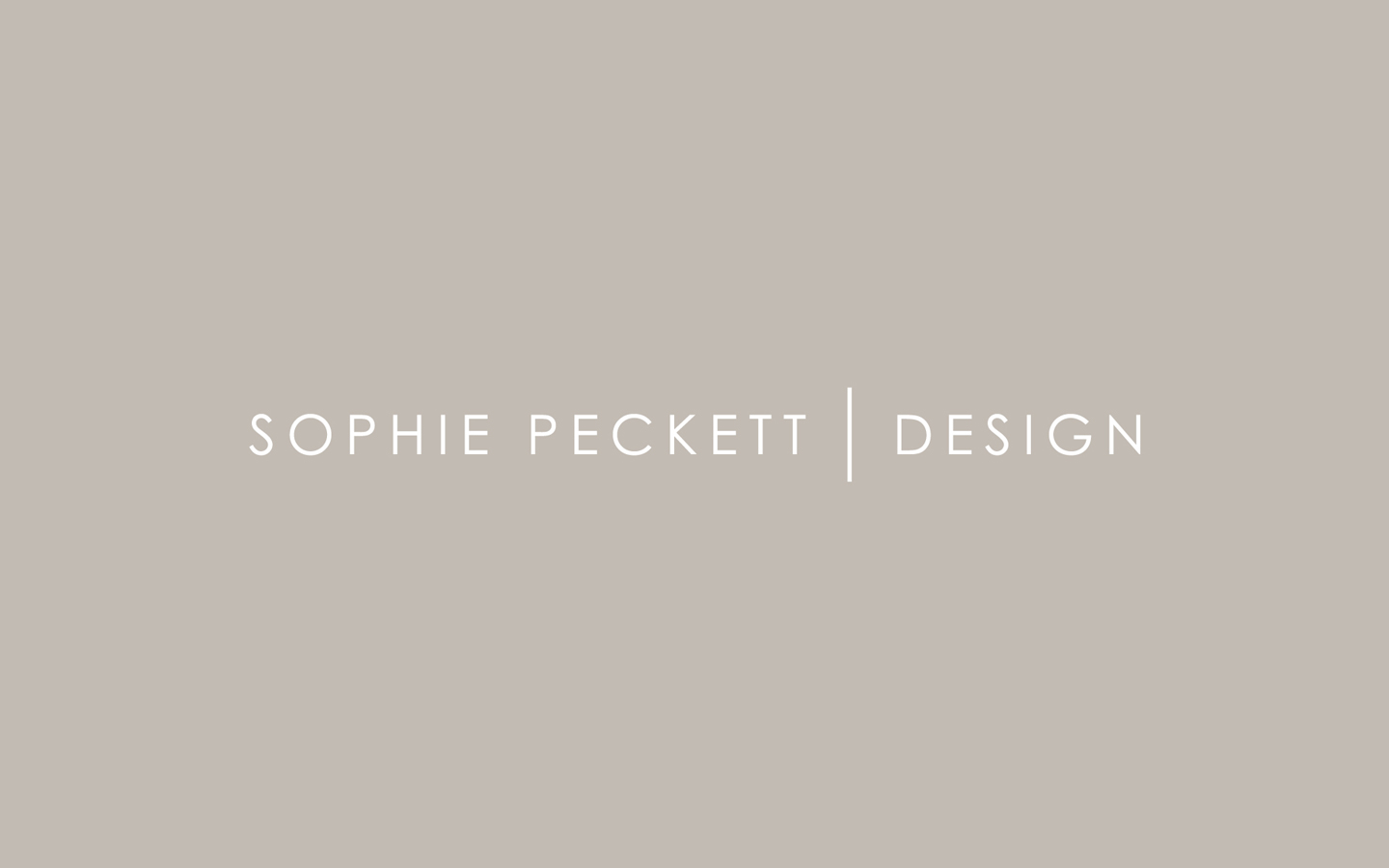 Sophie Peckett Logo Design in Brand Colours